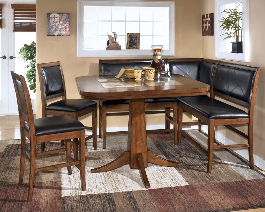 Dining Room Table Corner Bench Set Ashley Crofton Corner Dining