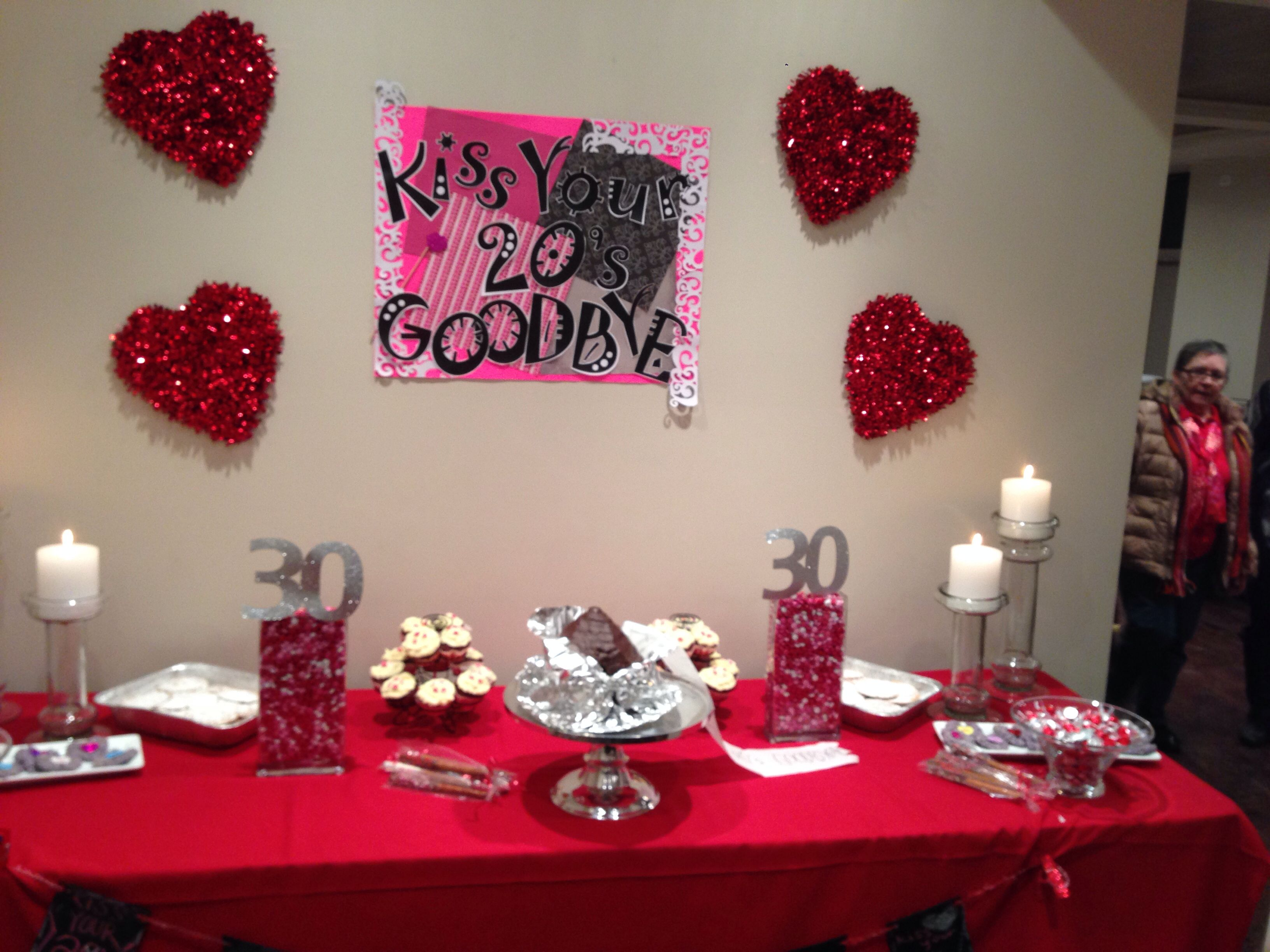 Kiss Your 20s Goodbye Dessert Table For 30th Birthday At Freddies Chicago
