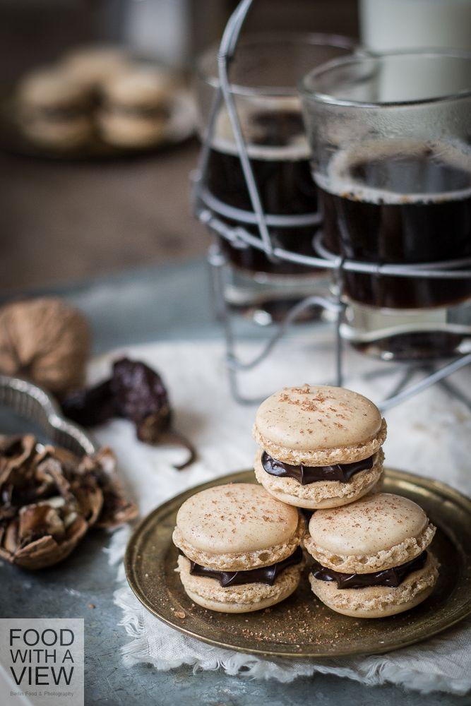 walnuss macarons chipotle ganache weihnachten backen geschenke pinterest backen. Black Bedroom Furniture Sets. Home Design Ideas