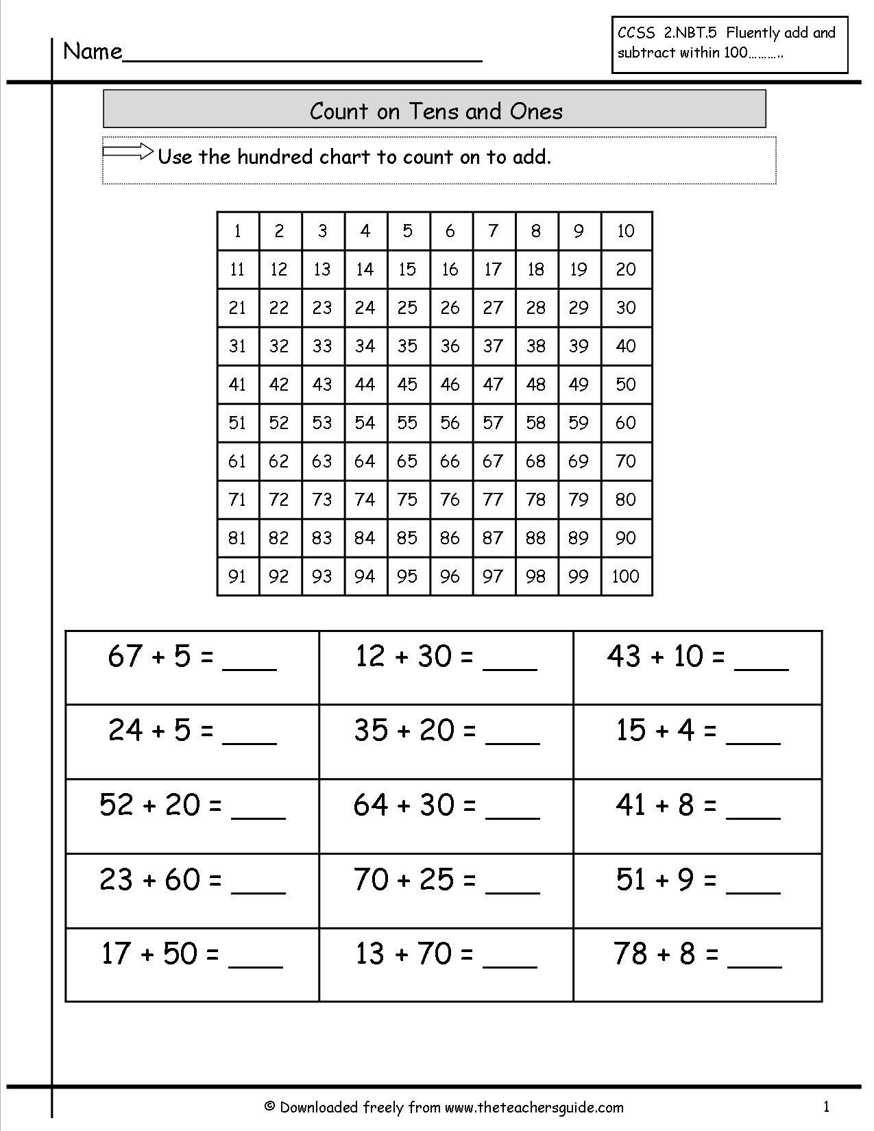 10 Worksheets Adding And Subtracting 100