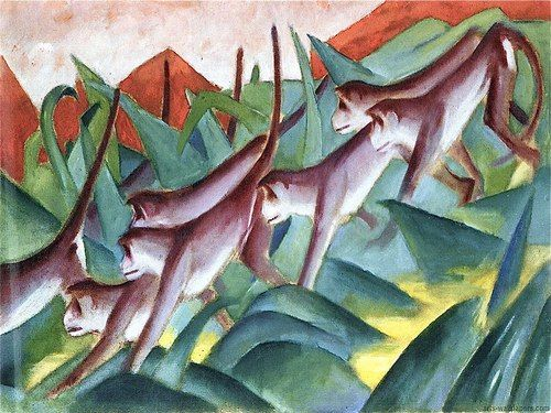 Franz Marc German Expressionist Affenfries