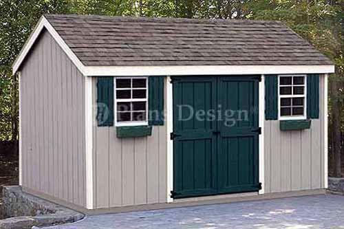 8 x 12 storage utility garden shed plans building blueprints design 10812 in - Garden Sheds 8 X 16