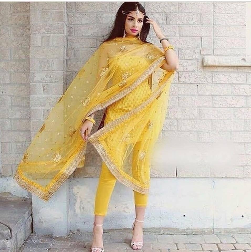 85e3d32927 Indian salwar kameez pant punjabi suit designer party wear dress heavy  dupatta #Handmade #SalwarKameez