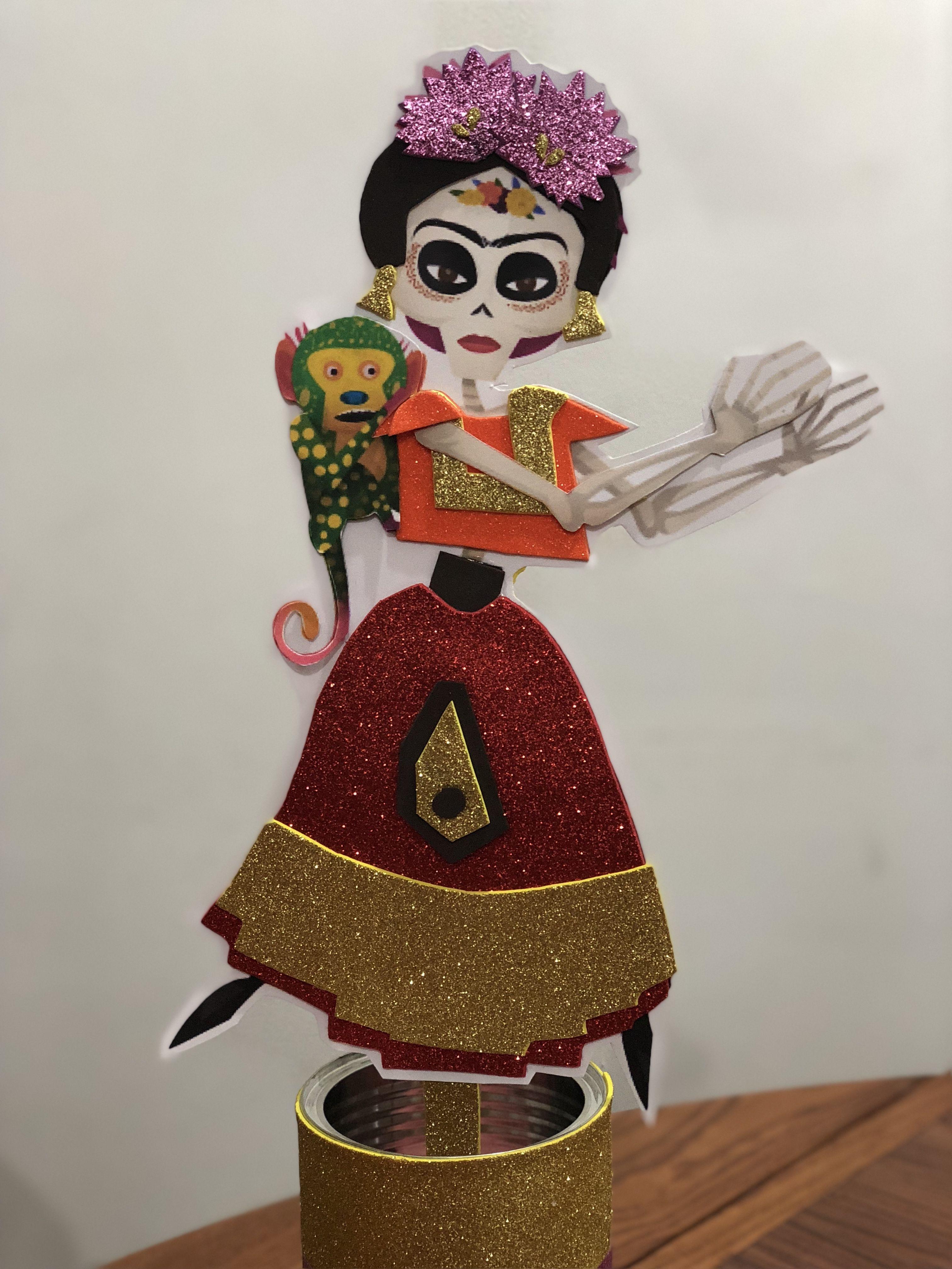 Frida Kahlo Coco Calavera De Papel Vestida Halloween