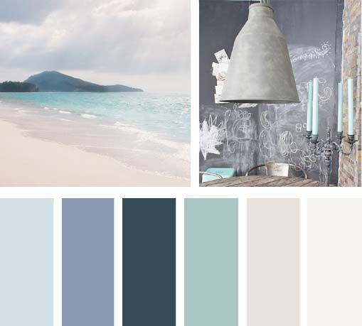 Paleta de cores azul turquesa habitacion clara combinar - Azul turquesa pared ...