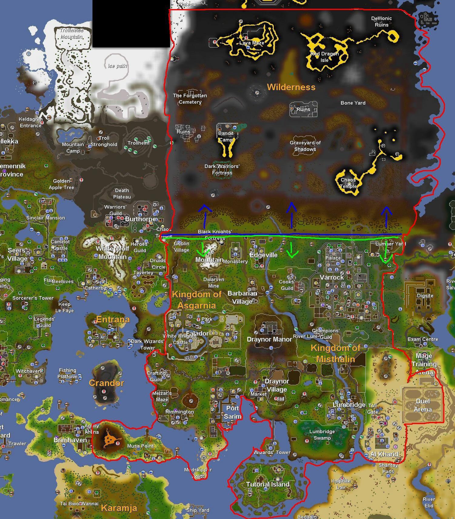 Runescape Map (full Full Map: Osrs_world_map_april_2015g)