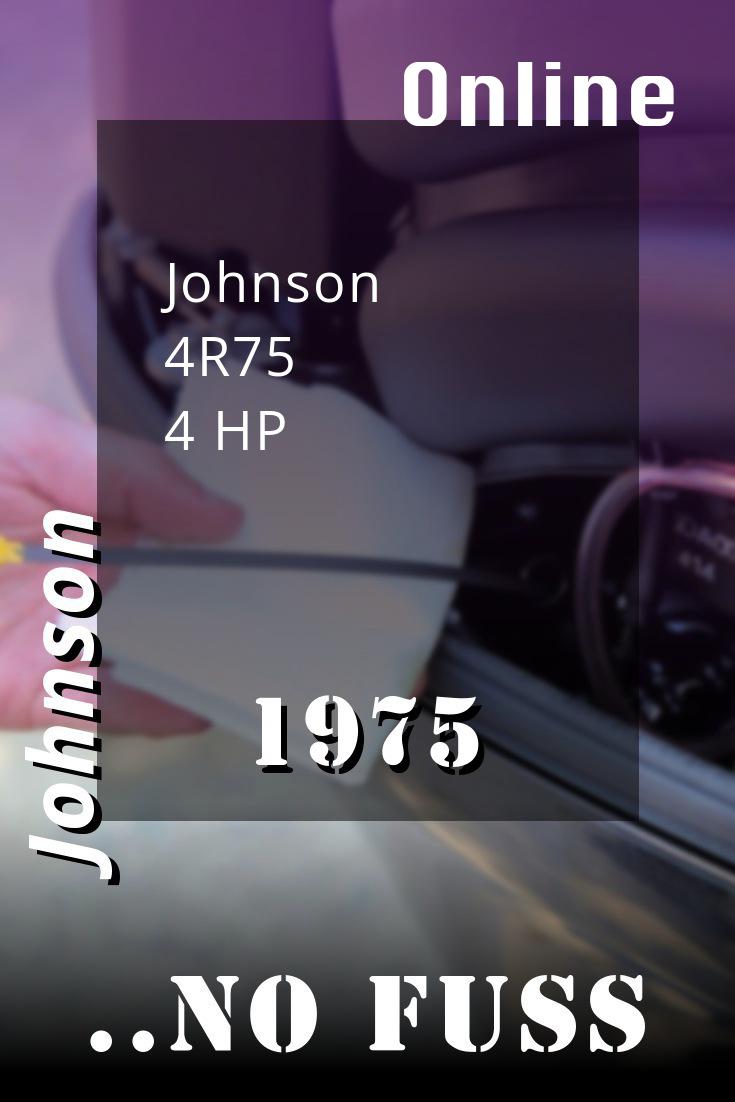 1975 4r75 Johnson 4hp Outboard Motor Service Manual Download In 2021 Outboard Repair And Maintenance Repair