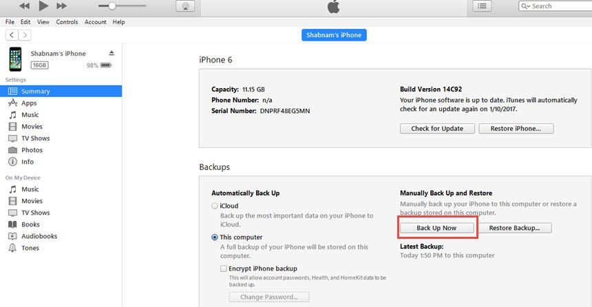 Fix iTunes Backup Was Corrupt or not Compatible with the