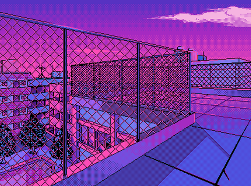 This Is So Nostalgic M It Reminds Me Of Scenes From My Childhood Cartoons Where A More Serious Realization Vaporwave Art Aesthetic Desktop Wallpaper Pixel Art