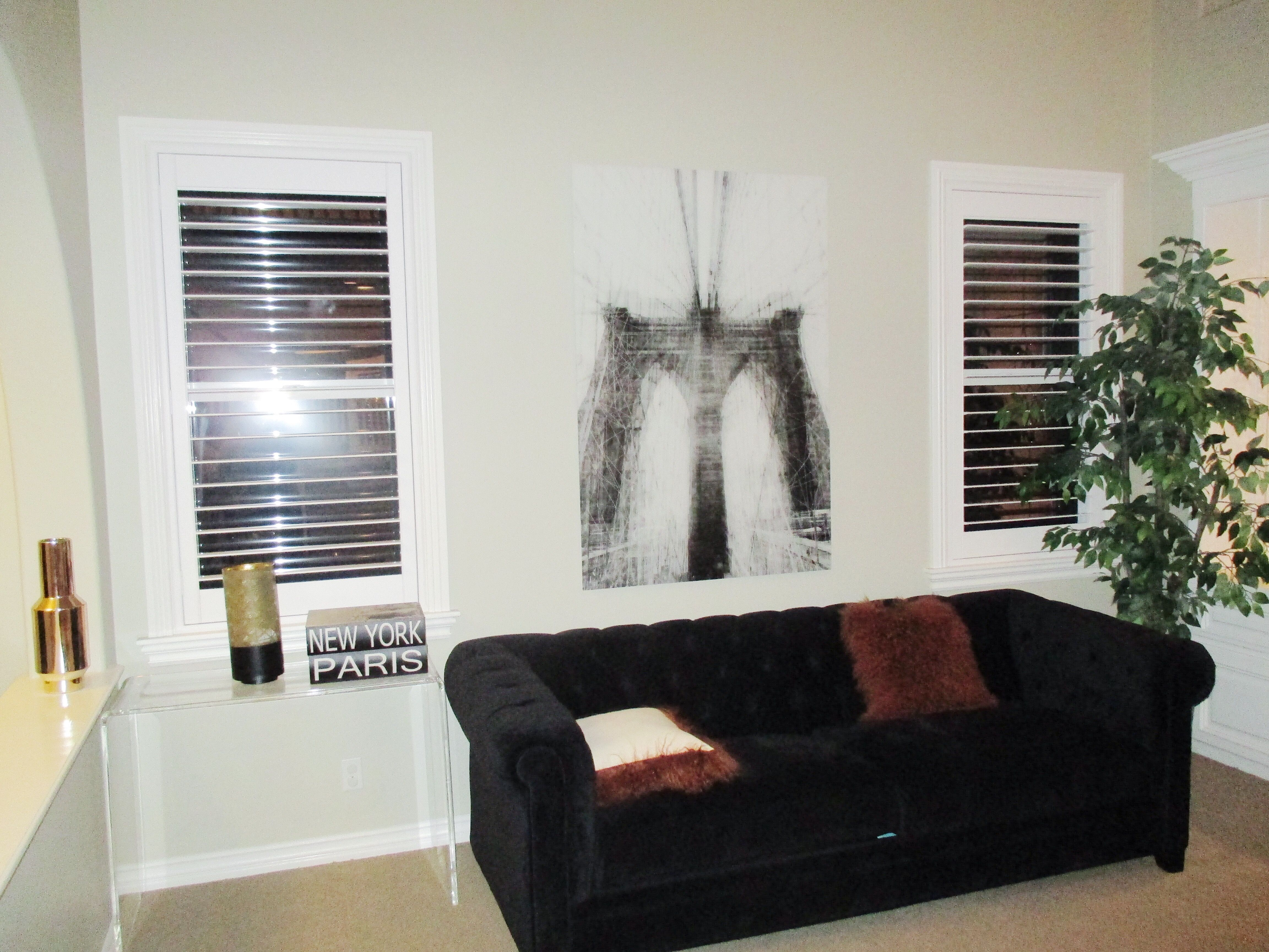 Get your living room up to date with some modern Interior Shutters ...