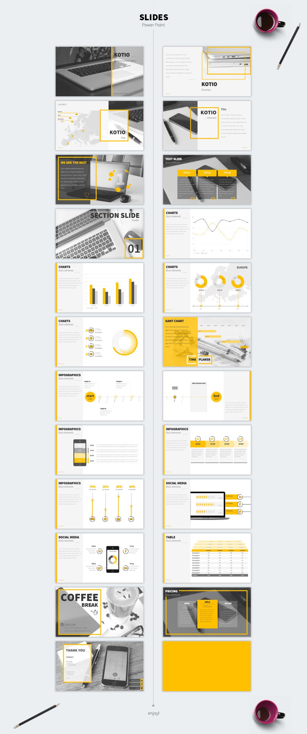 Kotio free Power Point Business Presentation (23 slides) - Just Free Slides