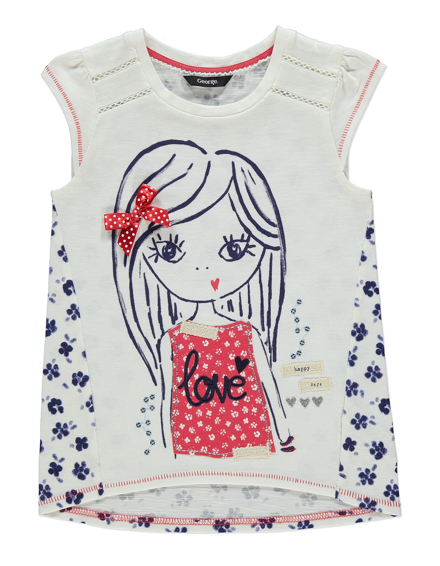 White apron asda - Maritime Girl T Shirt Kids George At Asda