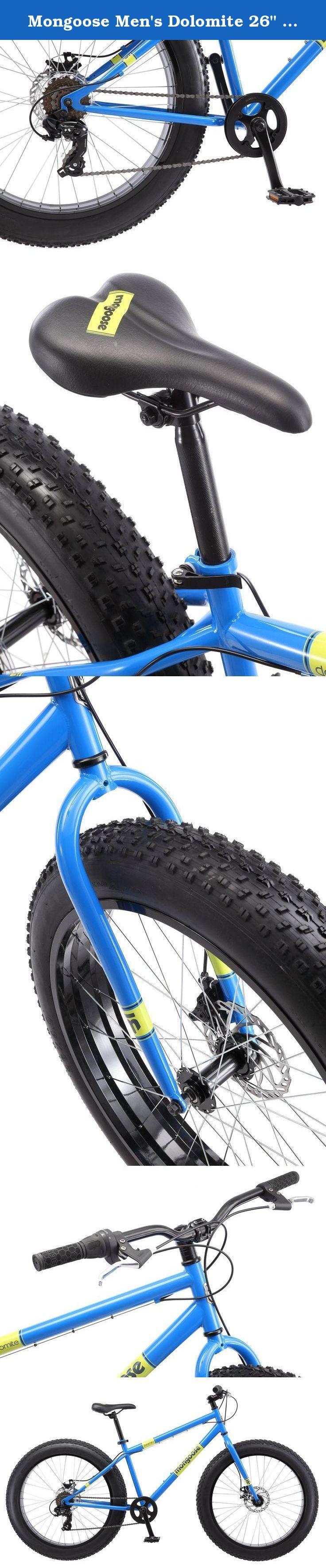 Mongoose Men S Dolomite 26 Wheel Fat Tire Bicycle Blue 18 Frame Size