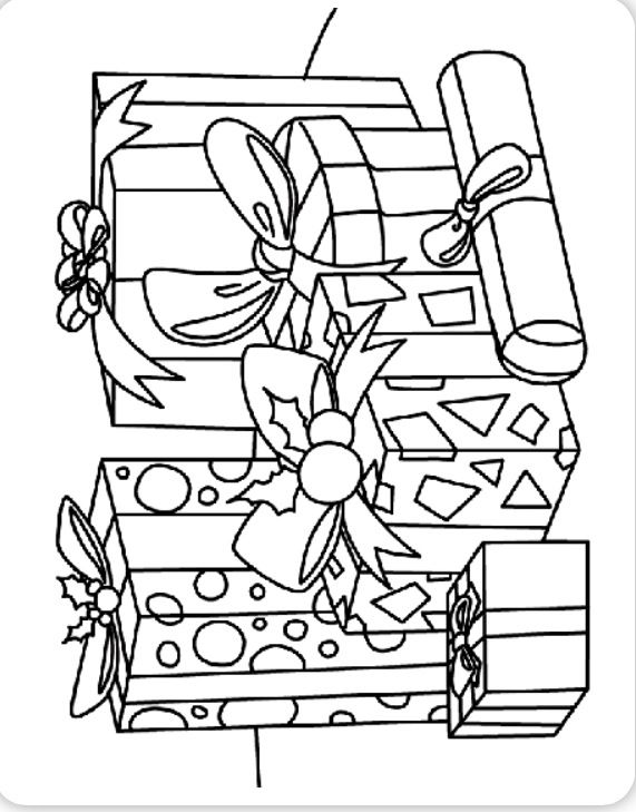 Christmas present coloring pages at Crayola.com | The Big Christmas ...