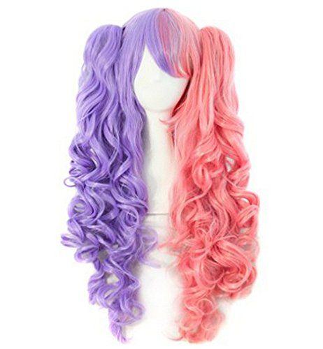 Ecvtop Multi-color Lolita Long Curly Clip on Ponytails Wi... https://www.amazon.com/dp/B01448XK5A/ref=cm_sw_r_pi_dp_W4hBxbJFX9QQ2