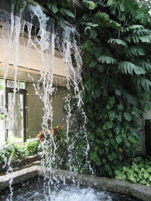 Indoor Waterfall Mito Japan Indoor Waterfall Indoor Water