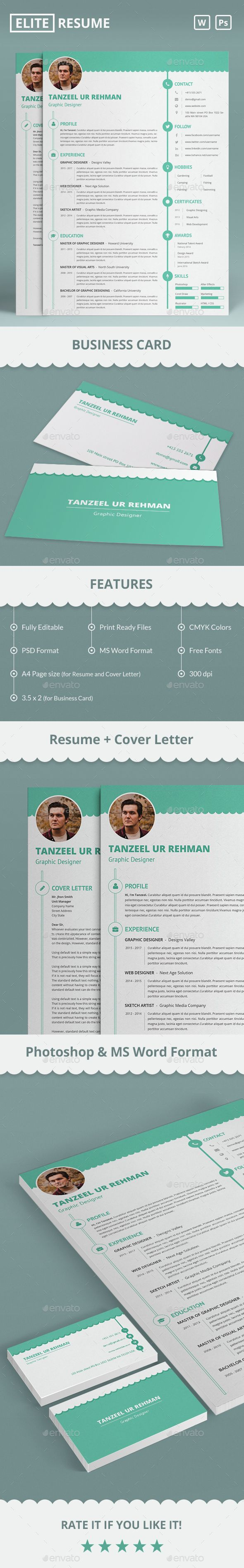 elite resume business card business cards template and microsoft