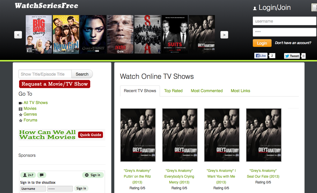Websites to watch tv shows online | fun | Pinterest | More Recipes ...