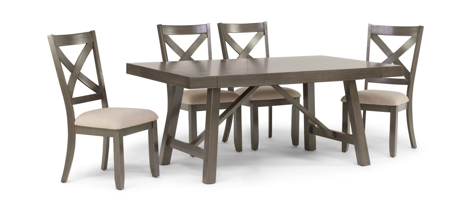 Omaha Dining Table With 4 Chairs Hom Furniture Kitchen Table Settings Teak Dining Table Hom Furniture