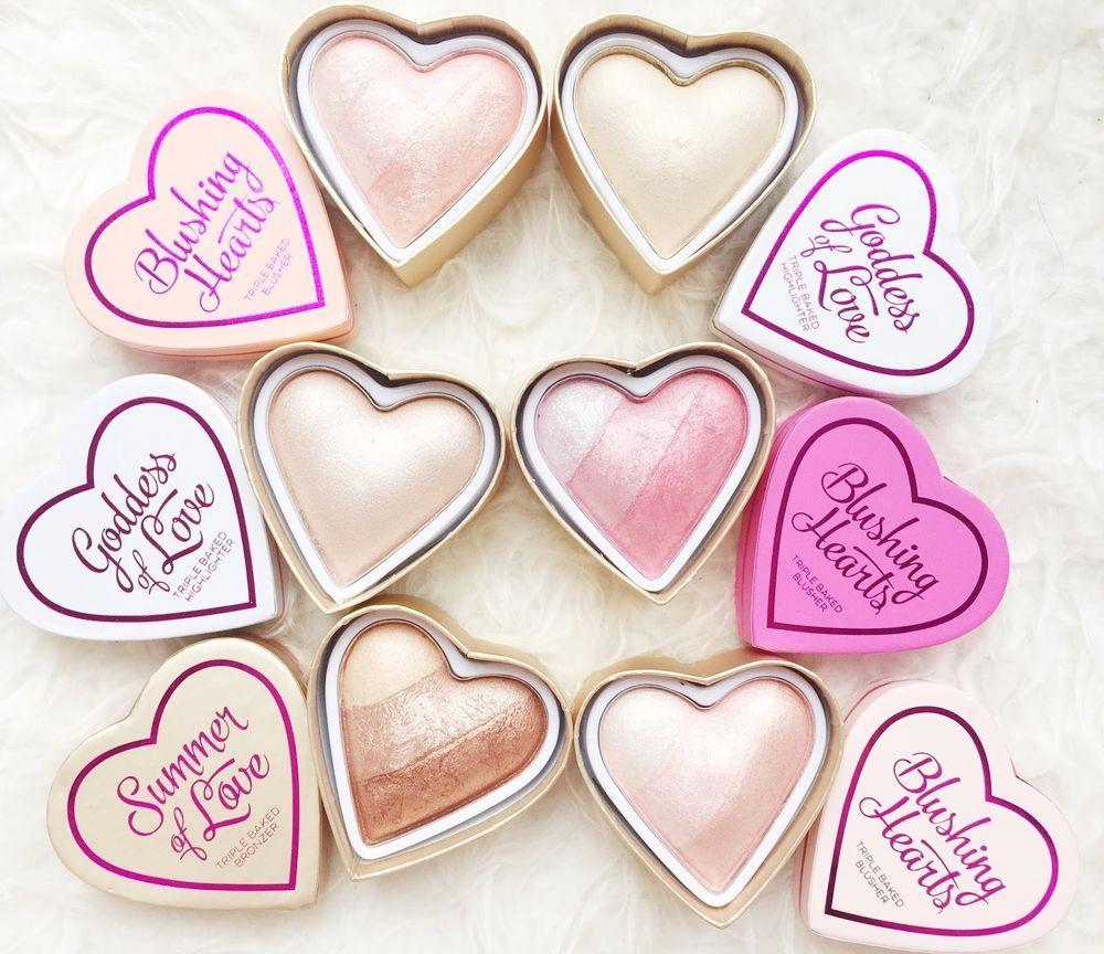 Revolution I ♡ MakeUp Blushing Hearts highlighter baked