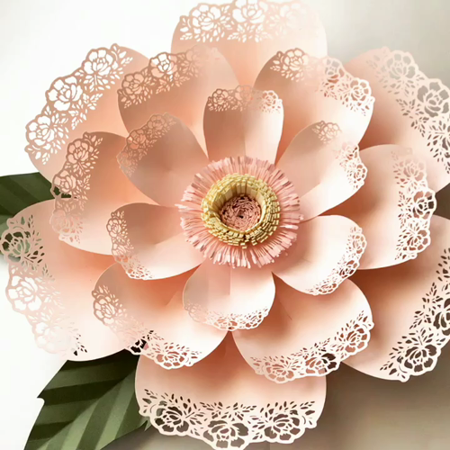 Lace Petal 5 Paper Flower Templates Available In The Crafty Sagittarius Shop In Pdf And Svgtutorial Is Handmade Flowers Paper Paper Flowers Diy Paper Flowers