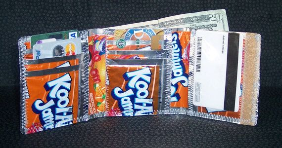 Orange Kool Aid Jammers Tri Fold Wallet Also Available Without Velcro Kool Aid Trifold Wallet Trifold