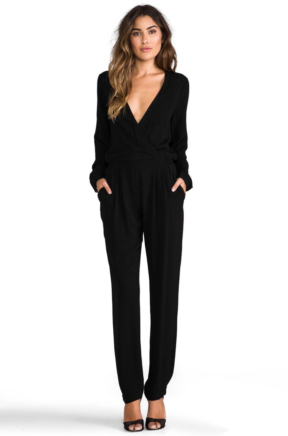 2d1dd0a3fc5 Twelfth Street By Cynthia Vincent Reckless Daughter Long Sleeve Jumpsuit in  Black