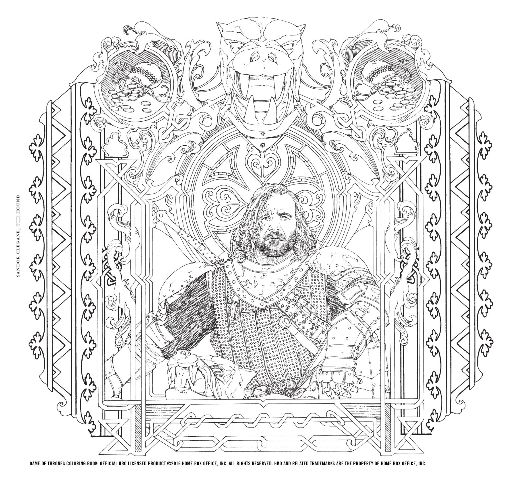 Game of Thrones Coloring Book   Coloring books, Color ...