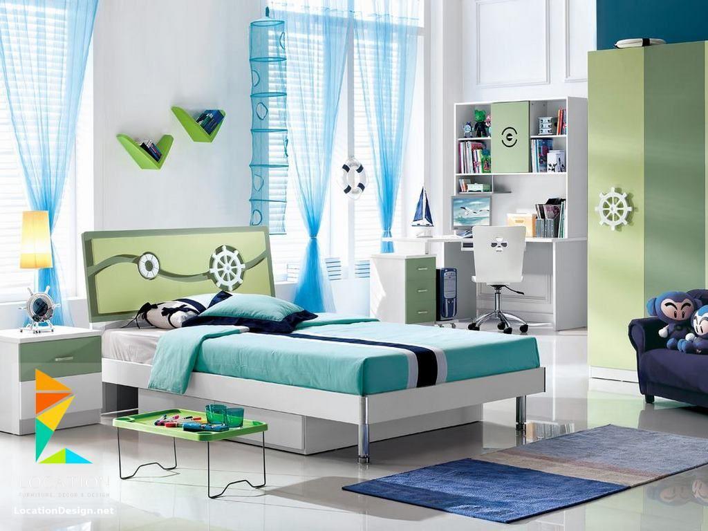 غرف نوم اطفال باللون الأزرق بدهانات مميزة Bedroom Furniture Design Childrens Bedroom Furniture Kids Bedroom Furniture Design