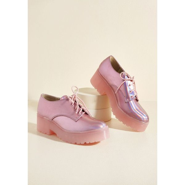 Forever Flashy Flatform ($80) ❤ liked on Polyvore featuring shoes ...
