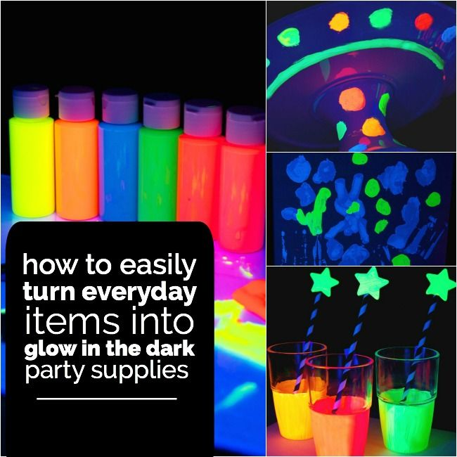 Glow in the dark party ideas youth in action pinterest for Glow in the dark centerpiece ideas