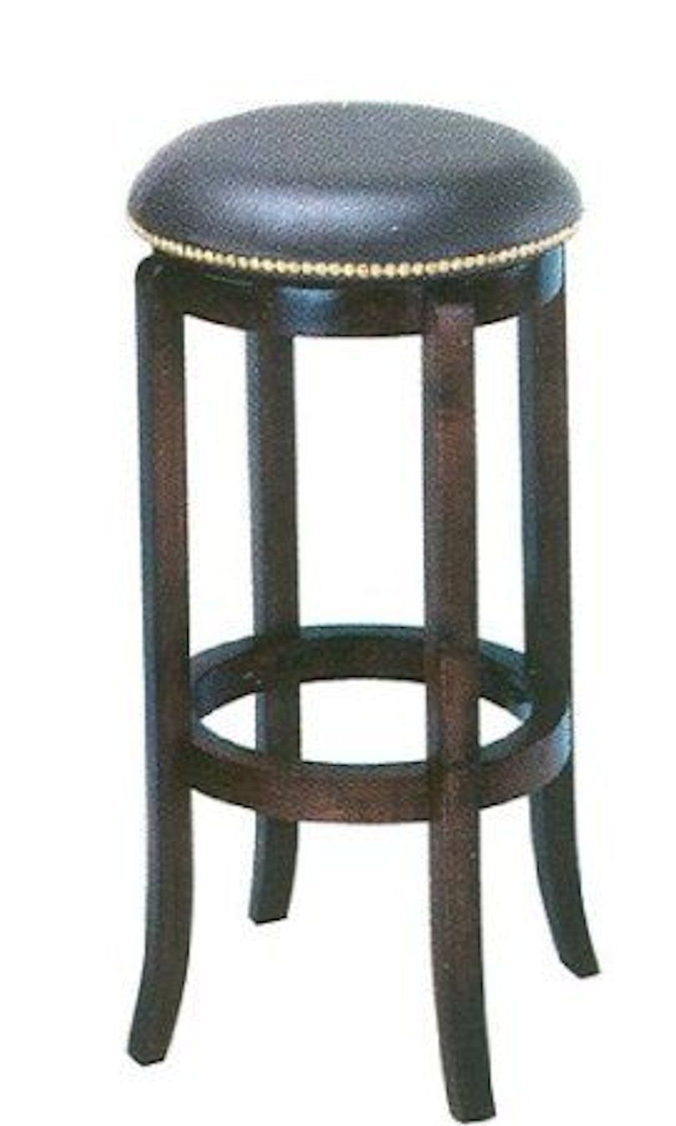 Details About 24 Leather Wood Swivel Barstool Bar Stool Counter