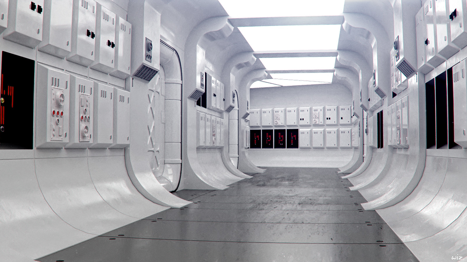 Starwars Tantive Iv Corridor 02 Star Wars Room Star Wars Ii