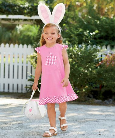 Another great find on #zulily! Pink Gingham Bunny Dress - Infant, Toddler & Girls by chasing fireflies #zulilyfinds
