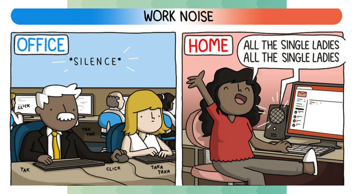 The Differences Of Working From Home Vs Working At An Office Hilariously Explain
