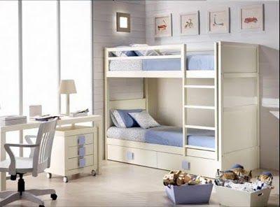 ideas sugerencias para organizar el dormitorio de dos nios en ambientes de poco espacio com muebles y decoracin al estilo mimimalista