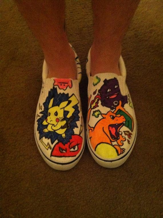 290deb5a09d001 Pokemon Custom Classic Slip On Shoes Vans off by ColorMeBrightly ...