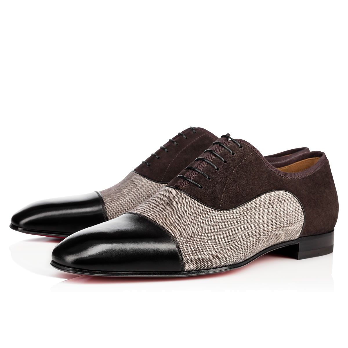 8138db808700 CHRISTIAN LOUBOUTIN Greggo Orlato Flat Version Black Leather - Men Shoes - Christian  Louboutin.  christianlouboutin  shoes