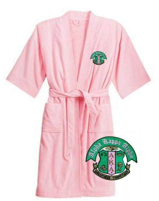 AKA pink terry velour bathrobe <3 | Greek Life | Amazon