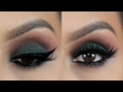 Maquillaje Ojos Ahumados en Verde PajaritaBella - YouTube como