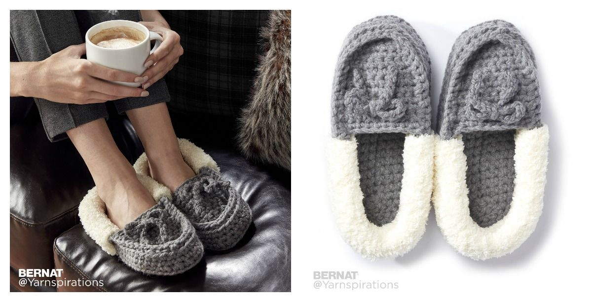Family Moccasins Slippers Free Crochet Pattern and Video ...