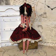 Vintage Künstlerpuppe Girl Tilda-Stil 47 cm Puppe Shabby Stoffpuppe Handarbeit