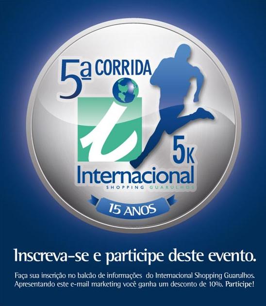 5ª Corrida 5K Internacional Shopping Guarulhos. Participe!