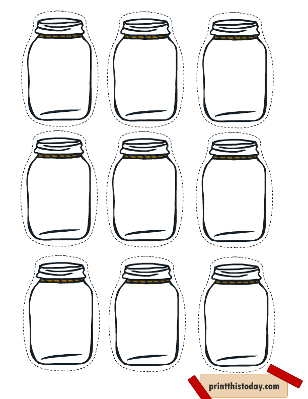 picture about Printable Mason Jar Template titled No cost Printable Mason Jar Tags for Home made solutions Reward