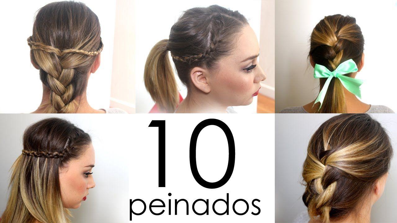 10 Peinados Faciles Y Rapidos Para Cabello Corto O Largo Peinados Faciles Para Cabello Corto Peinados Faciles Pelo Corto Peinados Faciles Para Cabello Largo