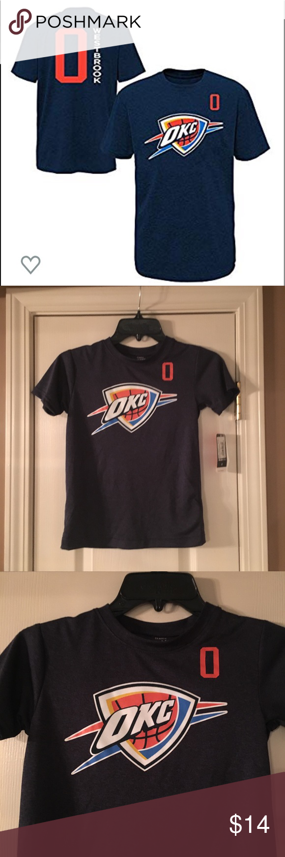 NBA kids size small Westbrook Russell TShirt NWT NBA kids