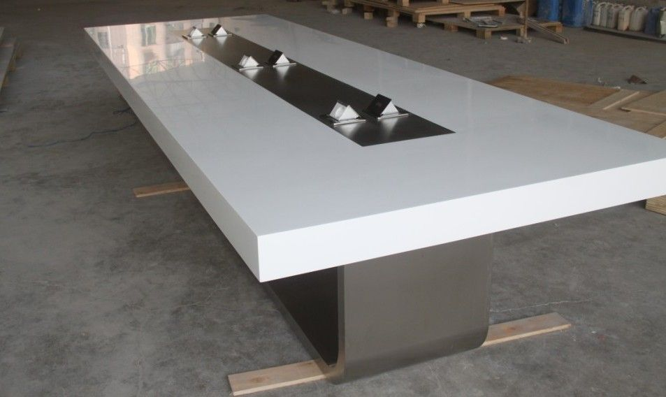 Corian Table Top China New Design Modern Office Corian Solid Surface Confererence