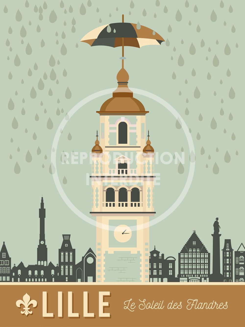 Sacree Lilloise Affiche Soleil Des Flandres 2 Affiche Idee