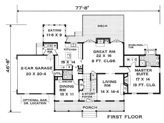 Innovative Floor Plan 5624 5 Bedrooms And 3 Baths The House Designers Floor Plans House Floor Plans House Plans