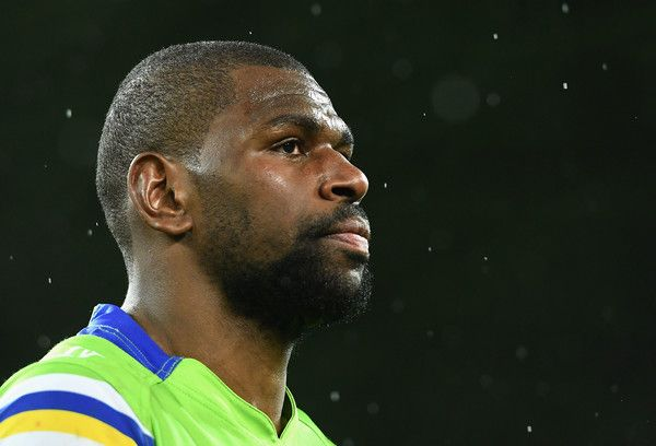 Edrick Lee of the Raiders looks dejected after losing the NRL Preliminary Final match between the Melbourne Storm and the Canberra Raiders at AAMI Park on September 24, 2016 in Melbourne, Australia.